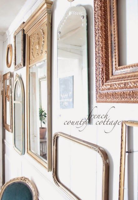 French country cottage collecting mirrors french country cottage mirrors pinterest - Country cottage hallways ...