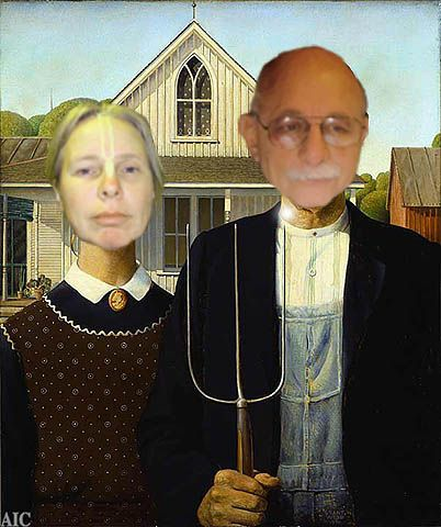 How to get free seeds from the government seed bankInteresting Things, Scott Humor, American Art, Grant Wood, Art Piece, Spoons Rivers, Art American Gothic, Di Spoons, Famous Art