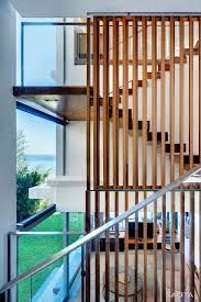 Image result for timber batten separator glass backing stairs