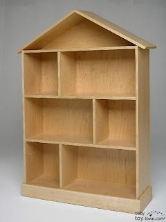 wooden dollhouse idea, simple and I could decorate it with the girls!