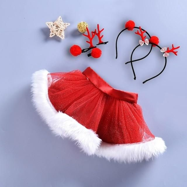 a25a730e0541 Buy Baby Girls Christmas Outfit Xmas Newborn Infant My First Christmas Tutu  Dress Set 5PCs and other Pant Sets at Narvay.com.Baby Girls Christmas Santa  ...