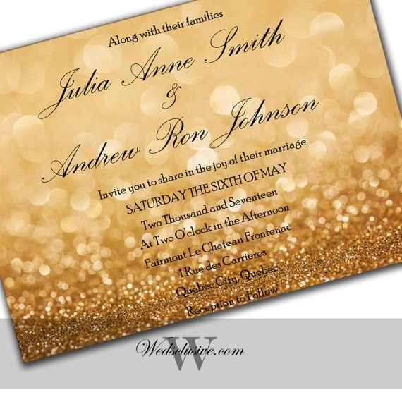 Gold and Black Wedding Invitations Gold Weddings by Wedsclusive