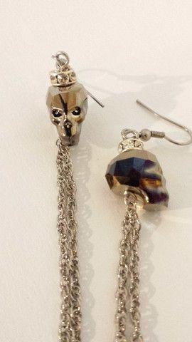 Crystal Skull earrings.  www.birdofprey.co.nz