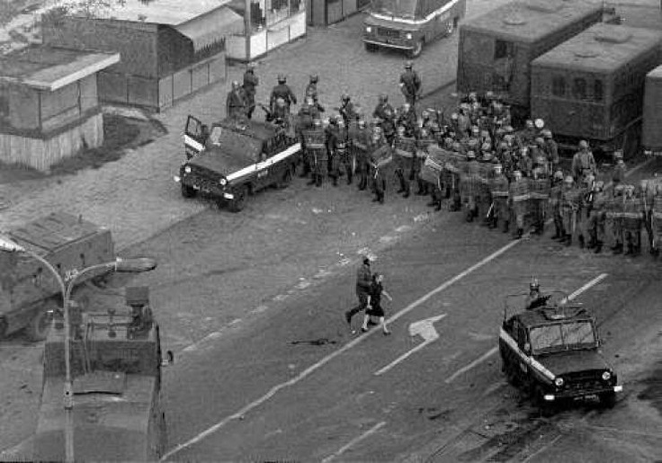 The beginning of martial law and the tanks.