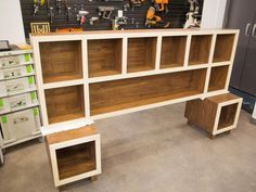 How to Make a Headboard With Storage | HGTV >> http://www.hgtv.com/design/rooms/bedrooms/how-to-make-a-headboard-with-storage?soc=pinterest