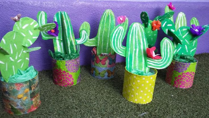 A craft that is dear to my heart.. not only do I love a Cactus Craft, but I ADORE all things recycled! And these little cuties use old tin cans and cardboard to create this WONDERFUL Cactus Craft. Aren't they…