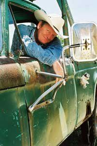Craig Johnson, Author of Walt Longmire series. Is he adorable or what? That tv show makes me want to move to Wyoming or Montana or wherever the heck they pretend they are.