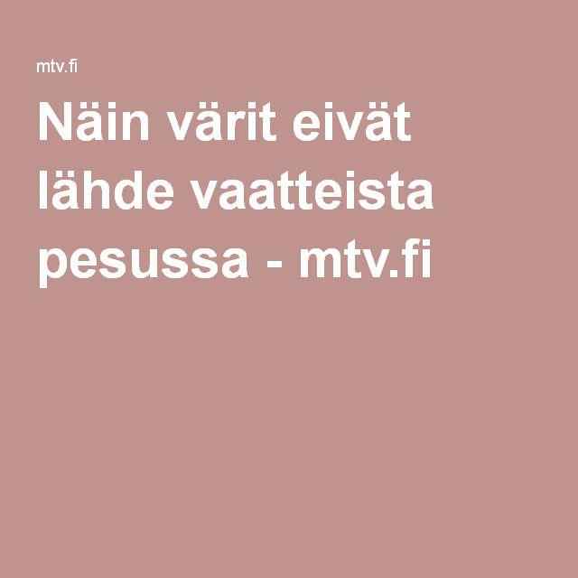 Näin värit eivät lähde vaatteista pesussa - mtv.fi