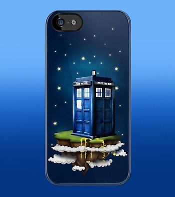 Tardis Doctor Who at Flying island apple iphone 5, iphone 4 4s, iPhone 3Gs, iPod Touch 4g case