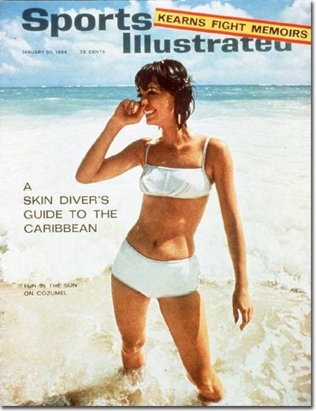 Observe how the Sports Illustrated swimsuit covers change from 1964 to 2012, a downhill slide toward more and more unrealistic bodies.