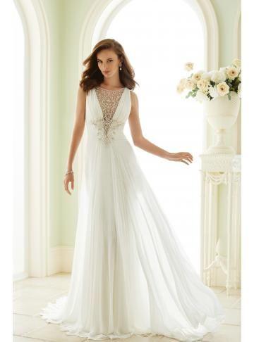 šifon jednoduché svatební svatební šaty