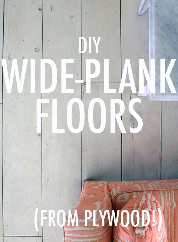 How to make your own plank floors from plywood.