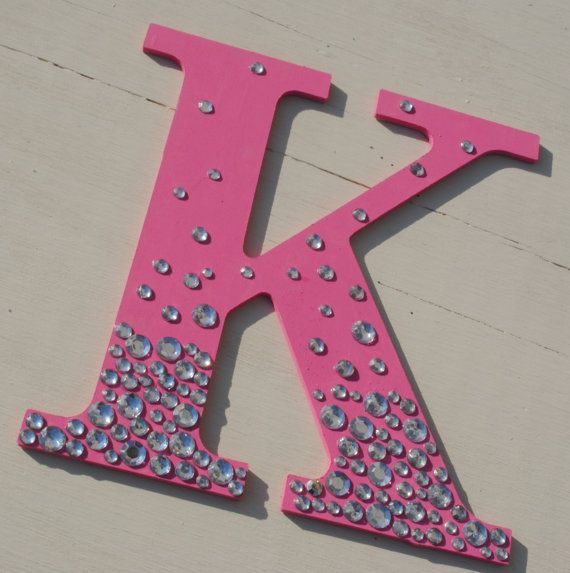 Hot Pink Bling Sparkle Wall Letters by Soulwarmers on Etsy, $8.00