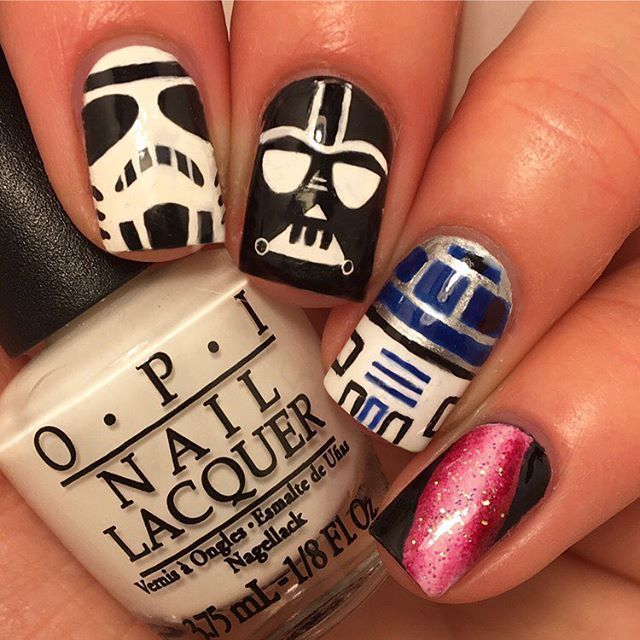 25 best to-do nails images on Pinterest | Star wars nails, Ongles ...
