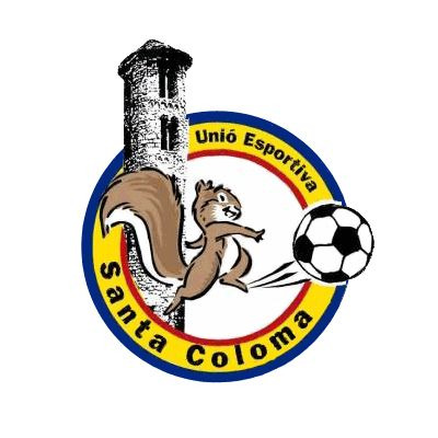 UE SANTA COLOMA (from the city-agglomeration Andorra la Vella) - another logo is used in European Football Yearbook 2014-15 (but wrongly used for FC Santa Coloma) - not (yet) on this board