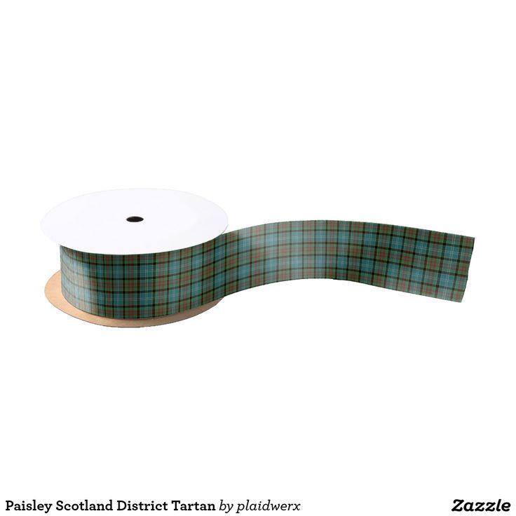 Paisley Scotland District Tartan Satin Ribbon