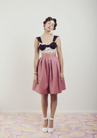 The Waffle Cone Leather Skirt – WND.LND