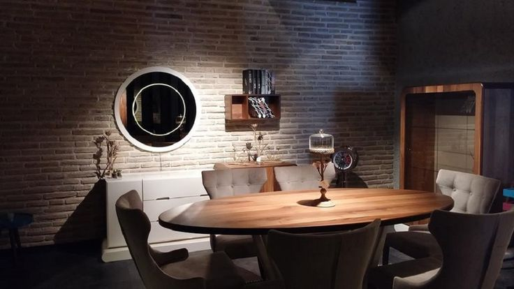 Bionde Brick cladding for this stunning dining room feature wal