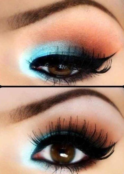 Make up colorato per occhi marroni