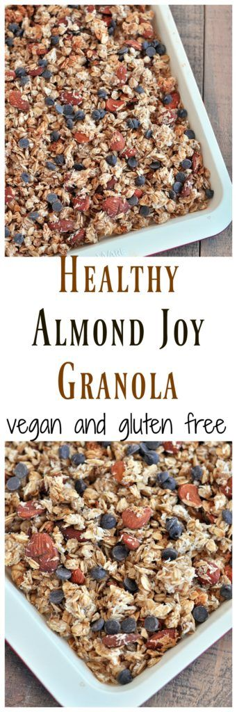 Get the taste of an almond joy in your morning cereal. This Almond Joy Granola is a must try for chocolate, almond & coconut lovers! Vegan and gluten free.