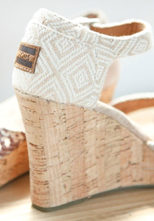 TOMS wedges add lift and style to any outfit while also providing a pair to a child in need.