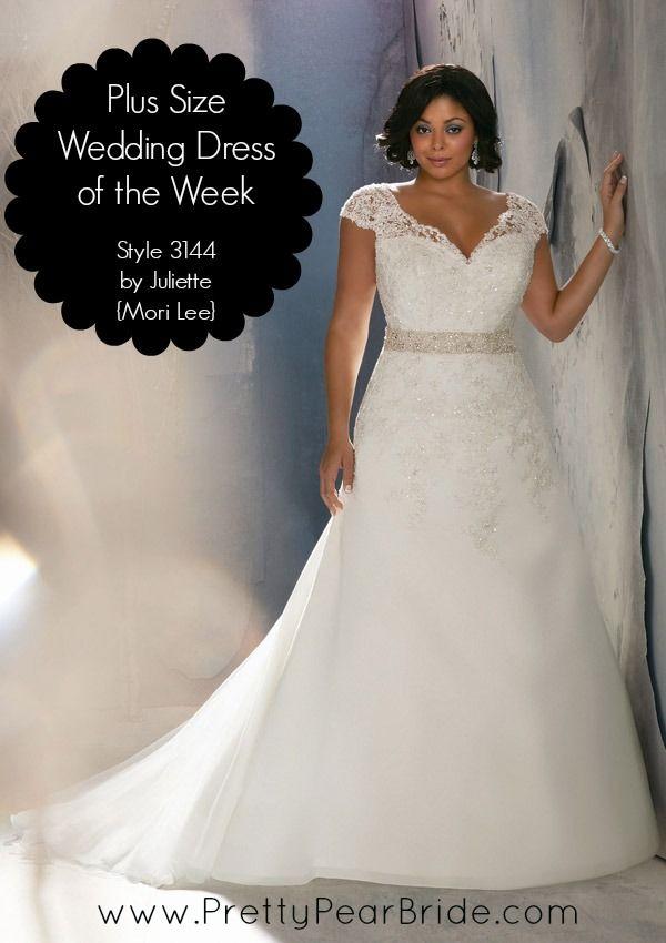 {Plus Size Wedding Dress of the Week} Style 3144 by Julietta {Mori Lee}  Pretty Pear Bride