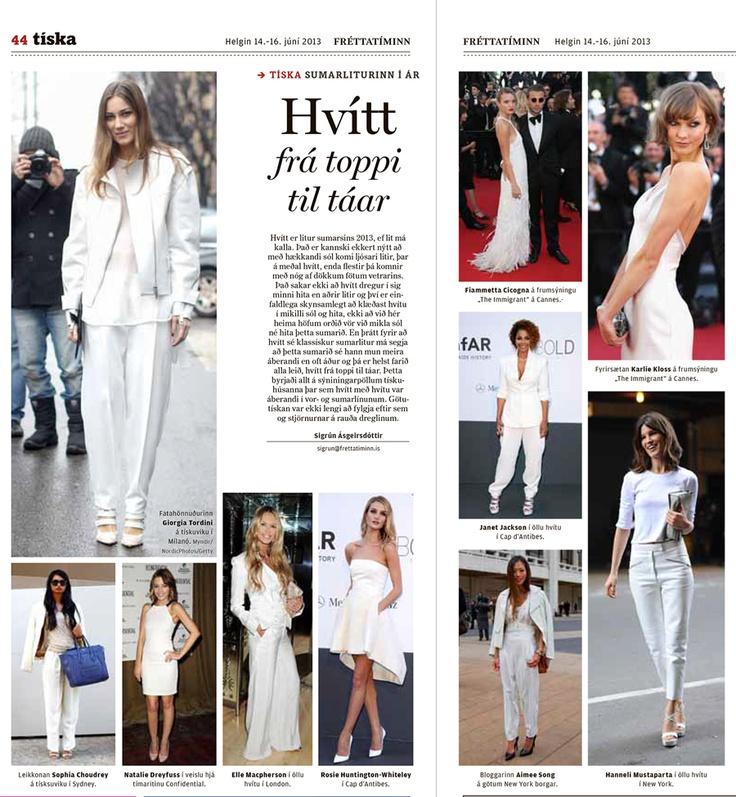 Article No 5 Fashion Layout Writer Frettatiminn Allwhite Newspaperarticle My Work
