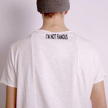 I'M NOT FAMOUS iron-on