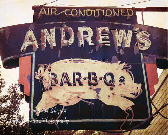 Andrews BarBQ  Birmingham Alabama  5x7 Fine Art by GritsandDaisies, $10.00