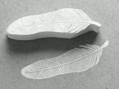 my feather fetish continues: diy feather stamp.