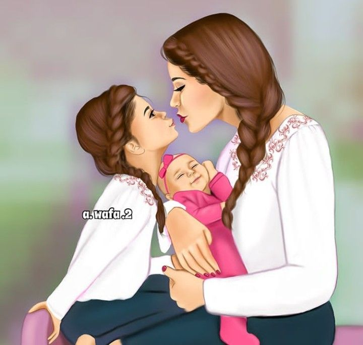 Pin By Eleonora Lacheva On Digital Art Mother Daughter Art Mother And Daughter Drawing Drawing Pictures For Kids