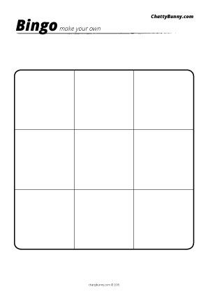 Best  Blank Bingo Board Ideas On   Blank Bingo Cards
