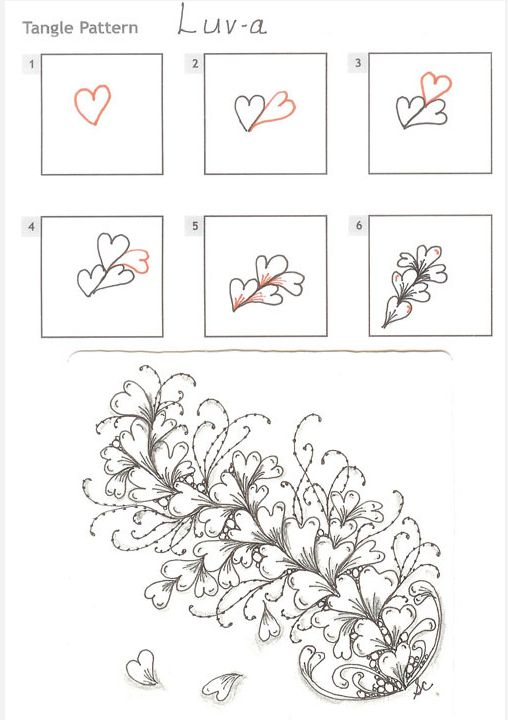 How to draw LUV-A « TanglePatterns.com - zentangle - patterns