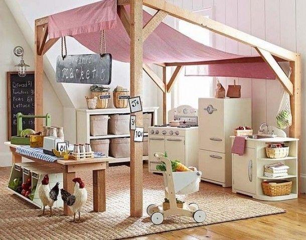 Kinderkamer ideeen | Gezellige speelhoek voor de kids Door Briggetje