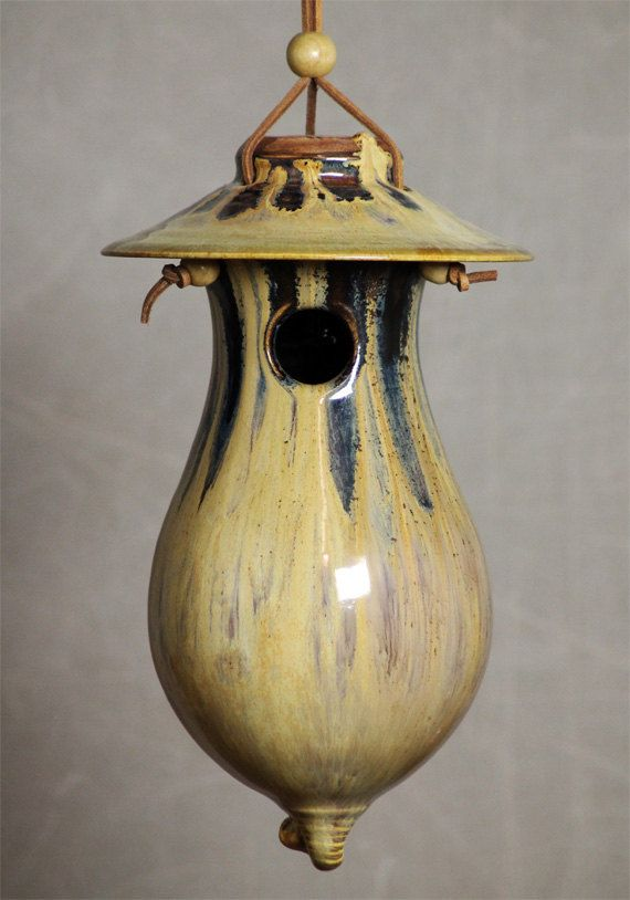 Hey, I found this really awesome Etsy listing at https://www.etsy.com/listing/215761637/hand-thrown-stoneware-pottery-bird-house
