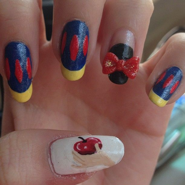 Snow White Nails: Caileyb: Soooo, I'm Gonna Be Doing Princess Nails In Order