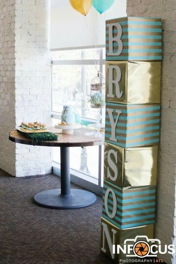 Blocks Decor Ideas | DIY Baby Shower Party Ideas for Boys
