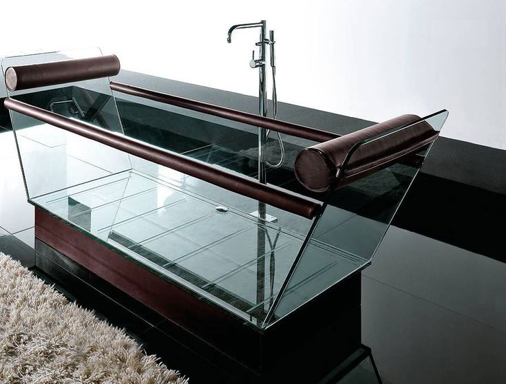 "modern-glass-bathtub   I would need to make sure the ""future"" children don't run into the bathroom while the tub is in use."