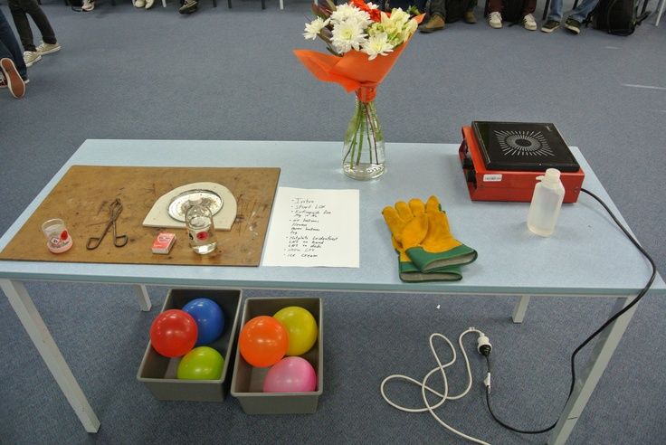 Have a look on the materials you need to hold a Chemistry Show! (Science Week at ACG Senior College 2013)
