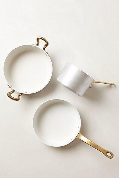 Kitchen ware, pots, white