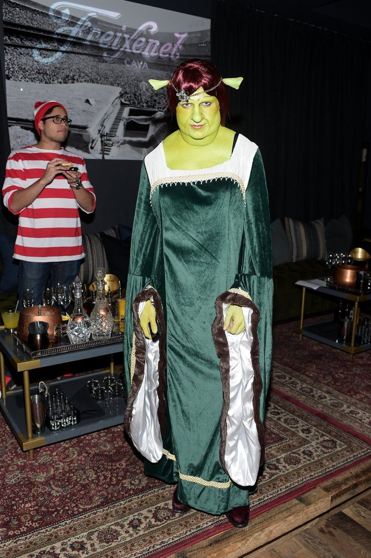 Pin for Later: Stars Prove Sexy Isn't Always Better on Halloween! Colton Haynes as Princess Fiona From Shrek