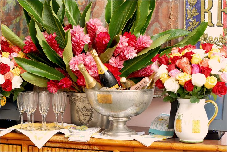 Torch Ginger (in center), my favorite flowers from Hawaii! Ivy At The Shore - The Ivy Restaurants in Los Angeles & Santa Monica