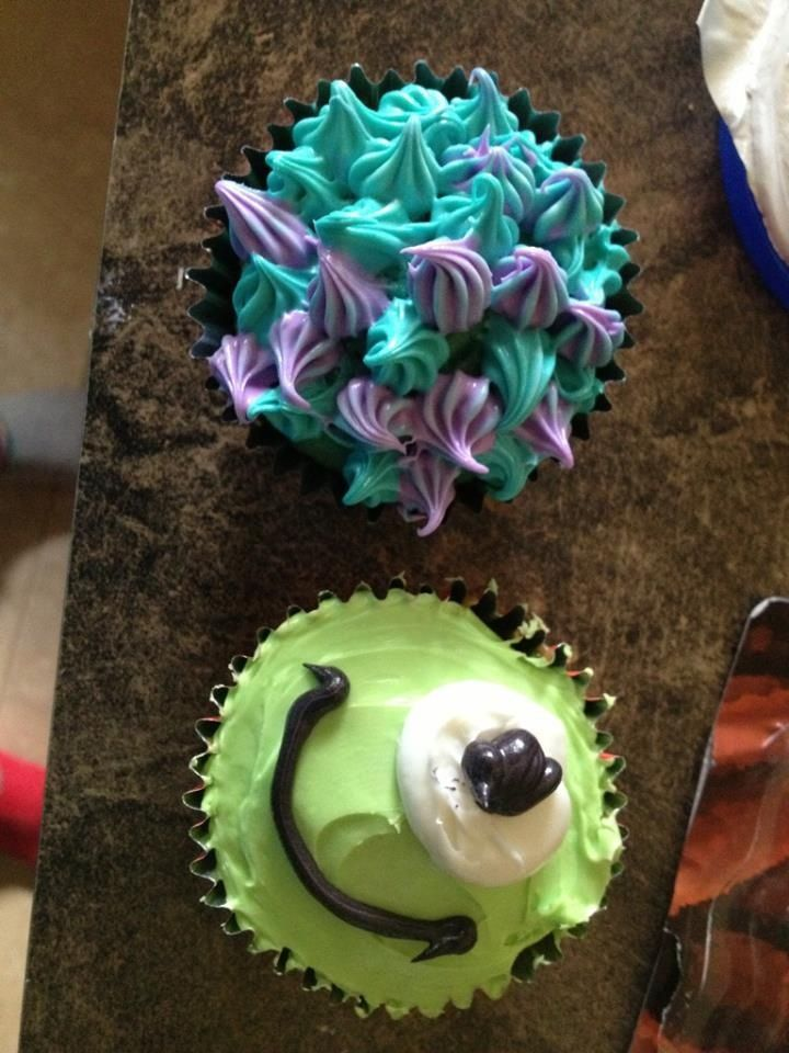 Brianna's Monsters Inc cupcakes