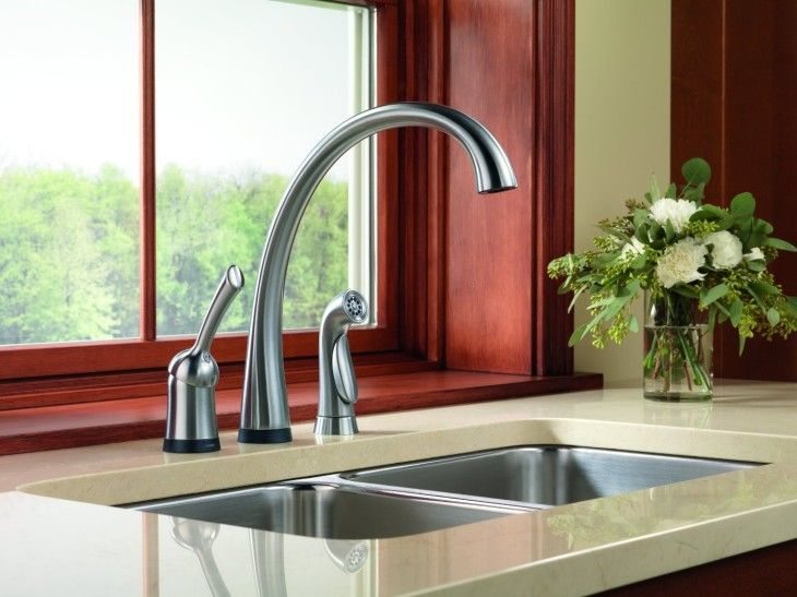 26 best delta kitchen faucets to complete your kitchen images on grand delta long arched kitchen faucet famous delta faucet for stainless undermount kitchen sink workwithnaturefo