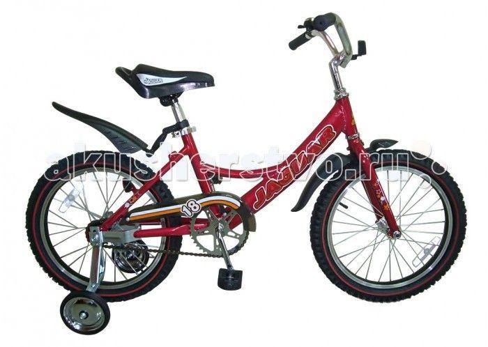 Велосипед двухколесный Jaguar MS-A182  Двухколесный велосипед Jaguar MS-182 Alu для детей от 5-ти до 8-ми лет  Характеристики: размер колеса: 18 дюймов алюминевая L-рама (AL 7005 уменьшает вес велосипеда) пневматические шины с крупным протектором регулируемое по высоте сиденье и руль ножной тормоз пластиковые крылья алюминиевые точеные обода, руль и вынос руля однокомпонентный кованый шатун пластиковая защита цепи (полностью закрыта цепь) приставные колеса светоотражающие катафоты цвета…
