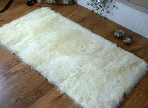 Cream Ivory Faux Fur Oblong Sheepskin Rug 70 X 140 Cm Washable Co Uk Kitchen Home Carpetsin