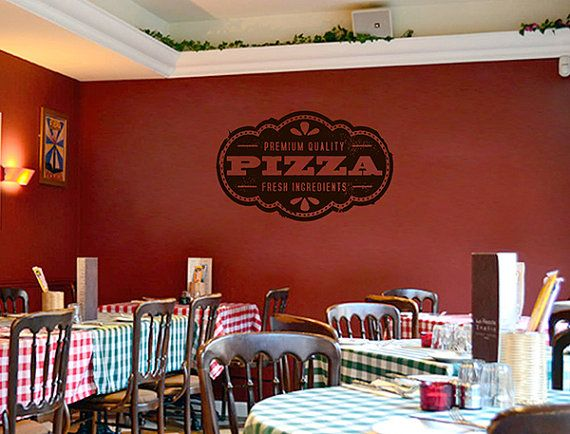 Best pizzeria pizza stickers decals images on pinterest
