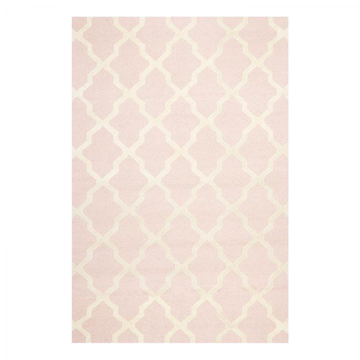 Teppich Rosa Weiß