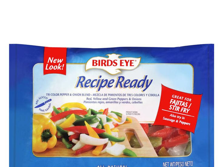 Frozen stir-fry veggie bagsspare you lots of chopping time, and theBirds EyeRecipe Ready Tri Color Pepper