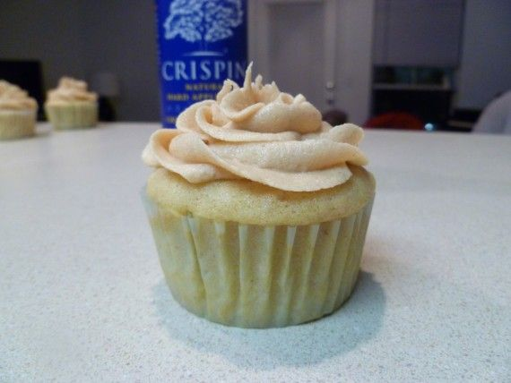 Hard Apple Cider Cupcakes (With Fireball Crisco Frosting - 1 lb. powdered sugar (4 c.) 1 c. Crisco 1/4 c. Fireball Whiskey 1 tsp. clear vanilla 1/2 tsp. almond extract Food coloring if desired Beat Crisco until fluffy, add sugar, water and flavorings. Beat this for 5 minutes. (Enough frosting for one cake, if putting on decorations, I double the recipe).)